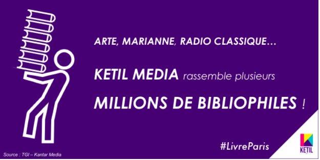 Touchez des milliers d'acheteurs de livres grâce à Ketil Media. #VendrediLecture #BellesChoses  https:// goo.gl/5MK7d1    pic.twitter.com/S8zZEsO4n4