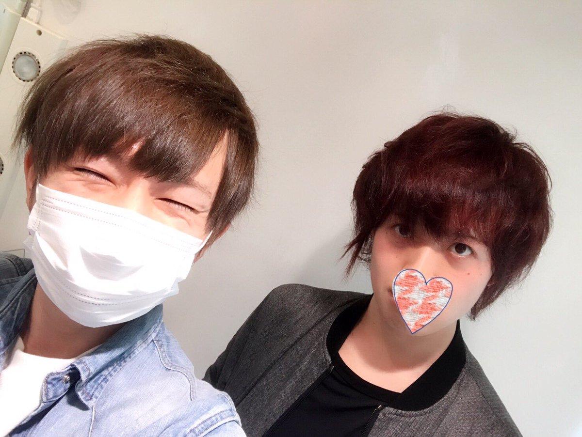リゼル行ってカズさんに髪の毛切ってもらったうらたさん そして改めてパーマかけてもらった坂田さん !