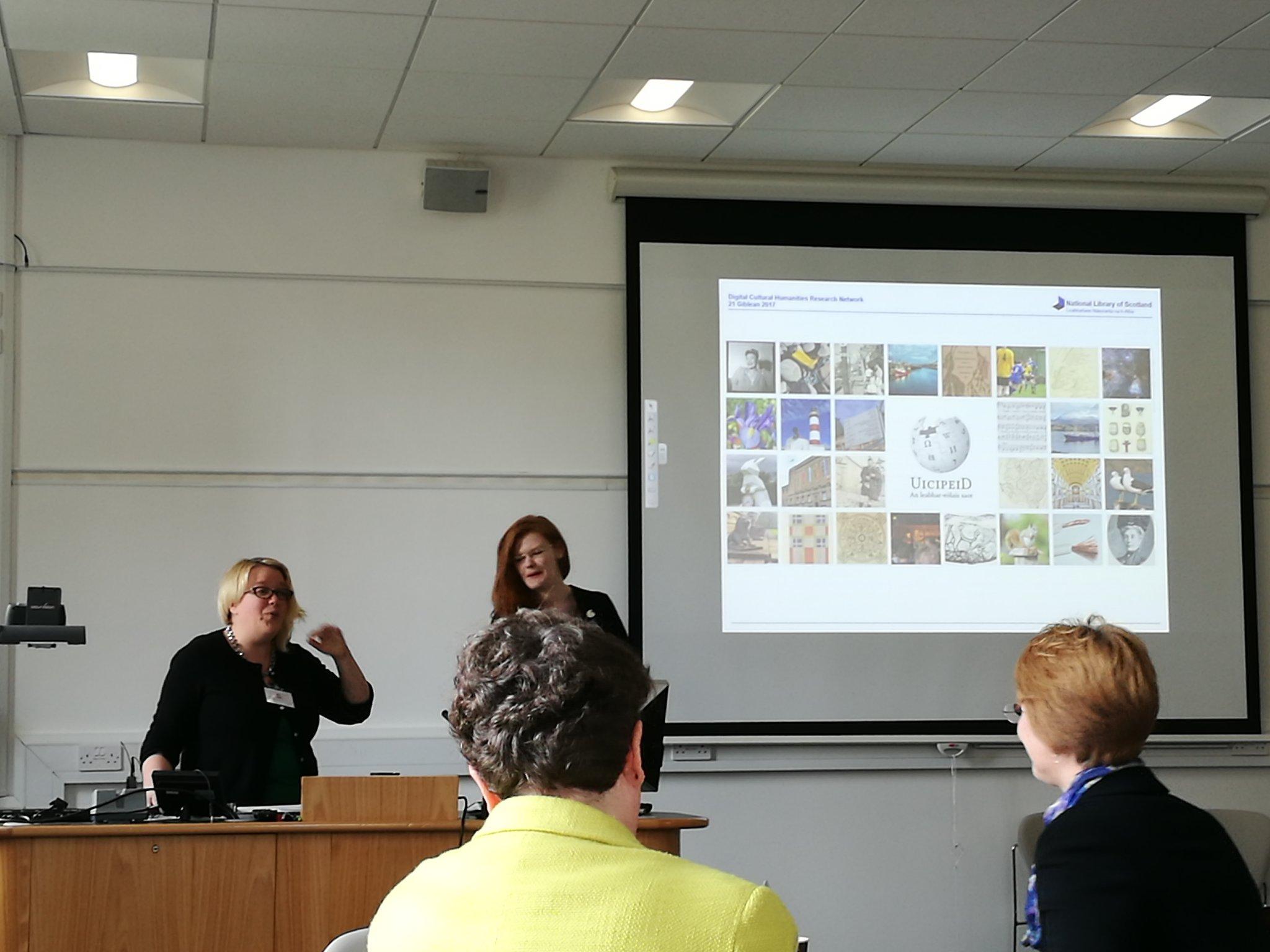 Susan Ross on Scottish Gaelic wikipedia being introduced by Jen Ross. #dchrn https://t.co/jVLQORjg5Y