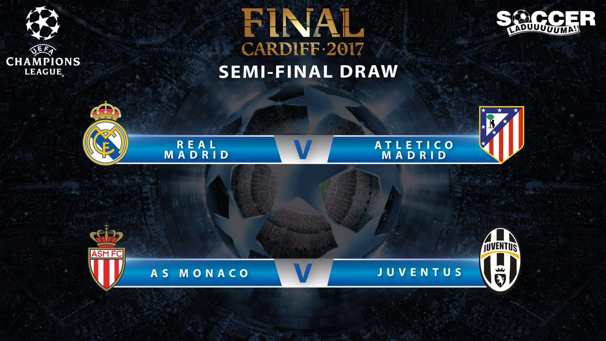 Who will be in the #UCL final in Cardiff?  #UCLdraw <br>http://pic.twitter.com/Enp2R4hamR