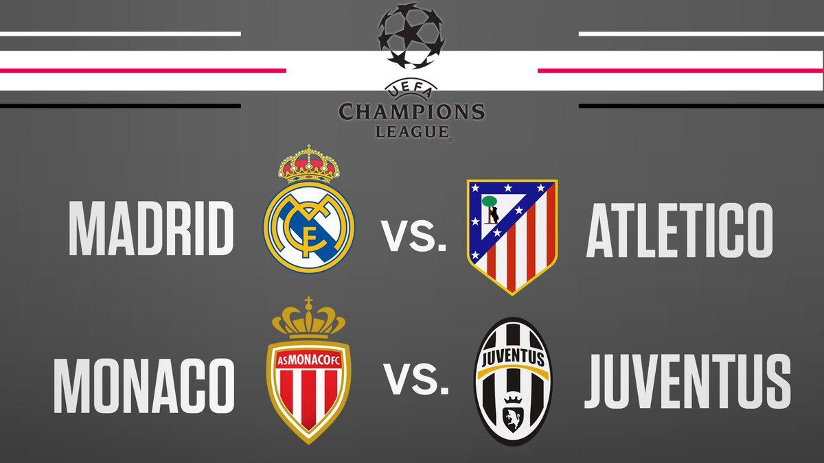 The Champions League semi-final draw: es.pn/2osXZxz #UCLdraw