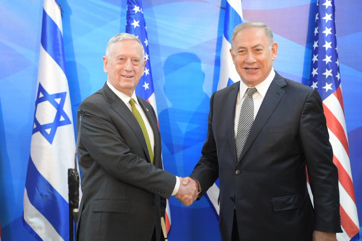 Prime Minister Benjamin Netanyahu met this morning in Jerusalem with US Secretary of Defense James Mattis.  https://t.co/FvXl0EbqWX