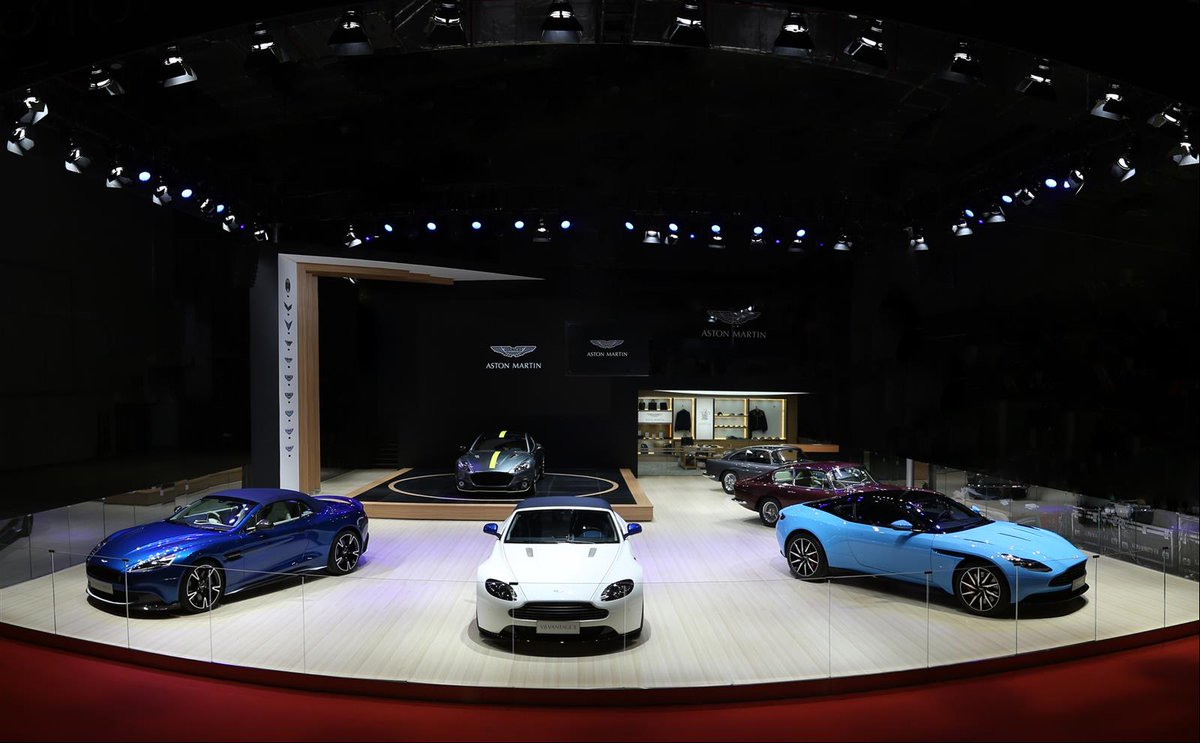 A look at the beautiful models featured on the Aston Martin stand at #AutoShanghai.