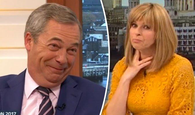 Kate Garraway sparks OUTRAGE after telling Nigel Farage she 'LOVES' hi...