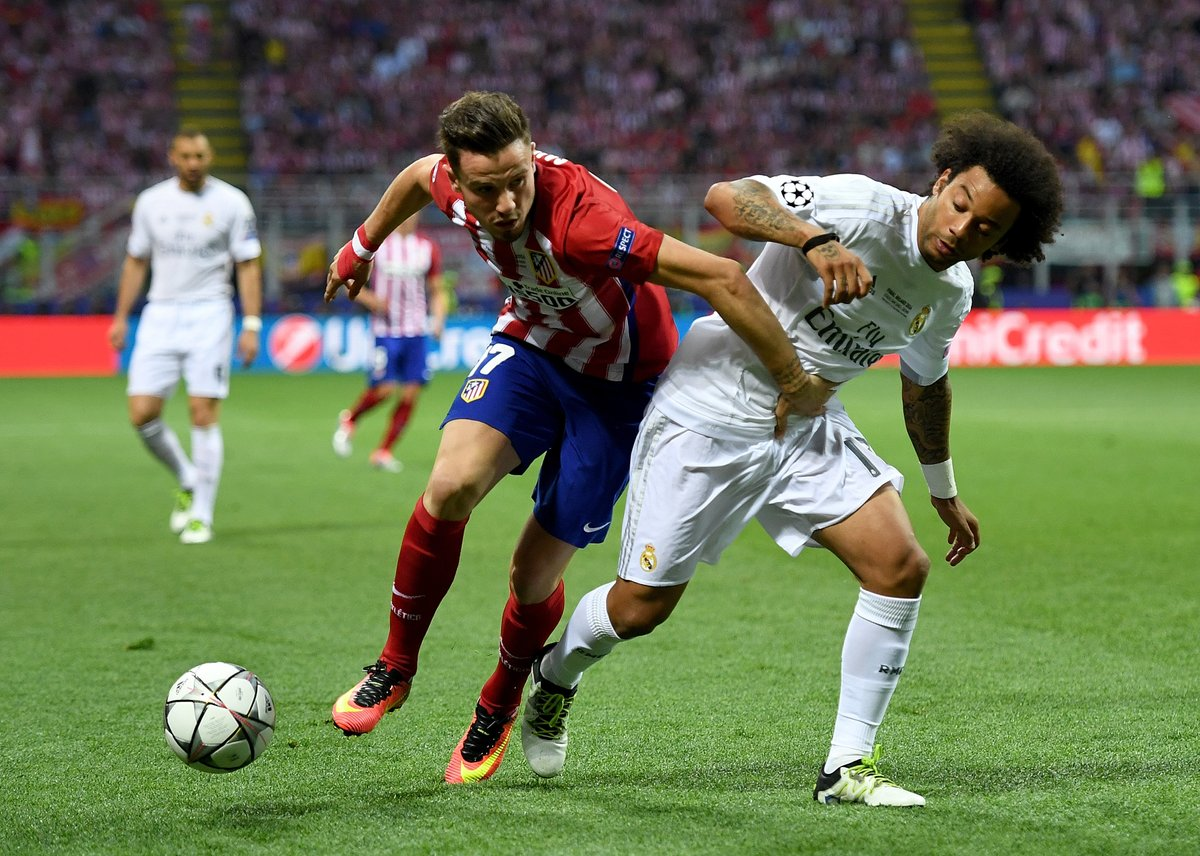 This is the fourth year in a row, #RealMadrid  will face #Atletico Madrid  in #UCL #UCLDraw<br>http://pic.twitter.com/D2sK9mYX8O