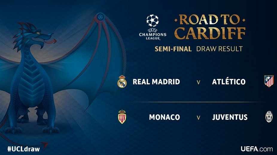 Going to be two fantastic semi-finals in @ChampionsLeague  #UCLdraw <br>http://pic.twitter.com/xuuWwTwdzS