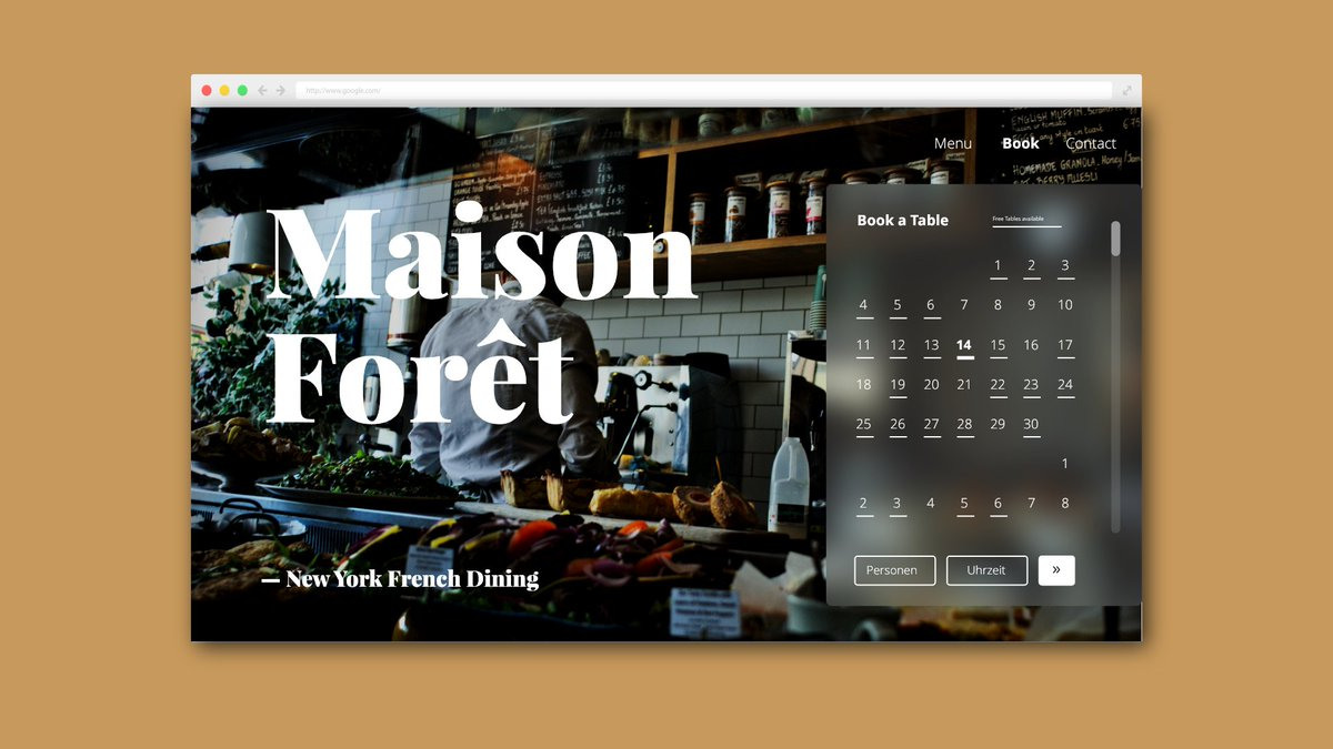 I am still going! #noexcuse #dailyUI @Daily_UI #003 #Landing #Page #Maison #Forêt #French #Dining<br>http://pic.twitter.com/kbsThw90bQ
