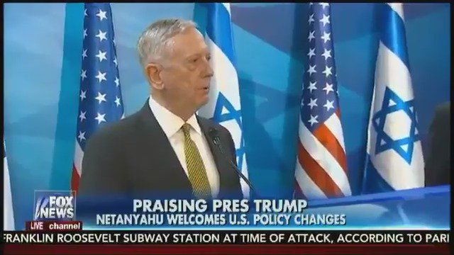 Israeli PM Netanyahu praises U.S. policy changes during meeting with Defense. Sec Mattis