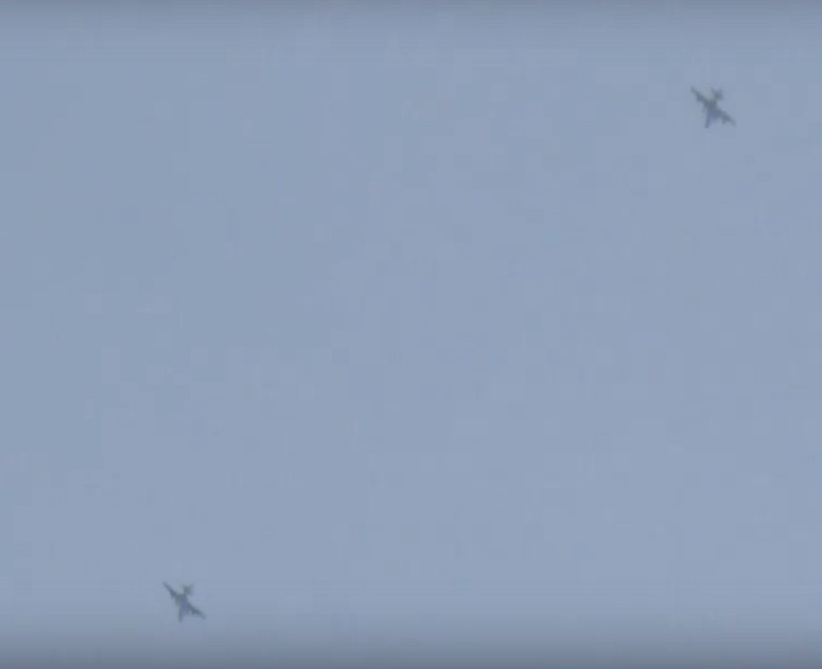 Hama province right now. Su-25 help pro-Assad forces on the ground