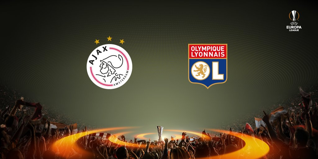Halve finale @EuropaLeague ➡️ #Ajax vs Olympique Lyon! 🇳🇱🇫🇷  #UELdraw...