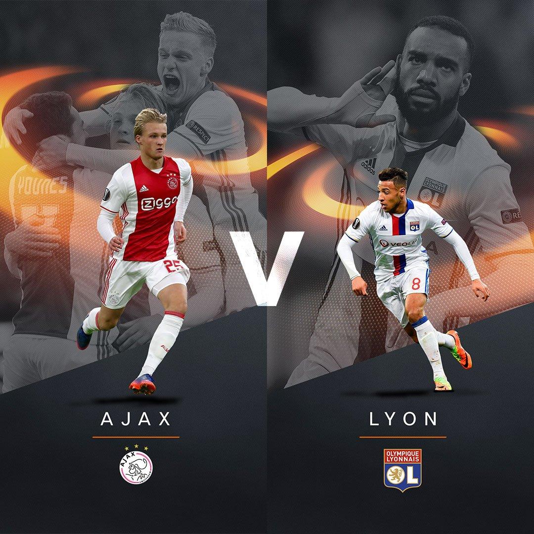 Ajax v Lyon #UELdraw https://t.co/e3AqOJVYsE