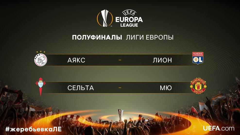 Состоялась жеребьевка 1/2 финала Лиги Европы - изображение 1