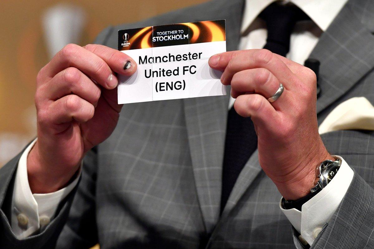 .@EuropaLeague semi-final draw: Ajax v Lyon Celta v Manchester United...