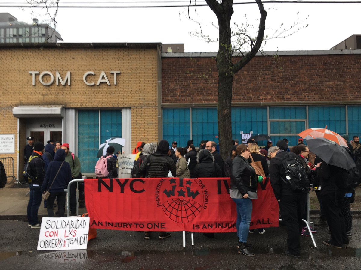 Standing in solidarity with Tom Cat Bakery workers in NYC under threat...