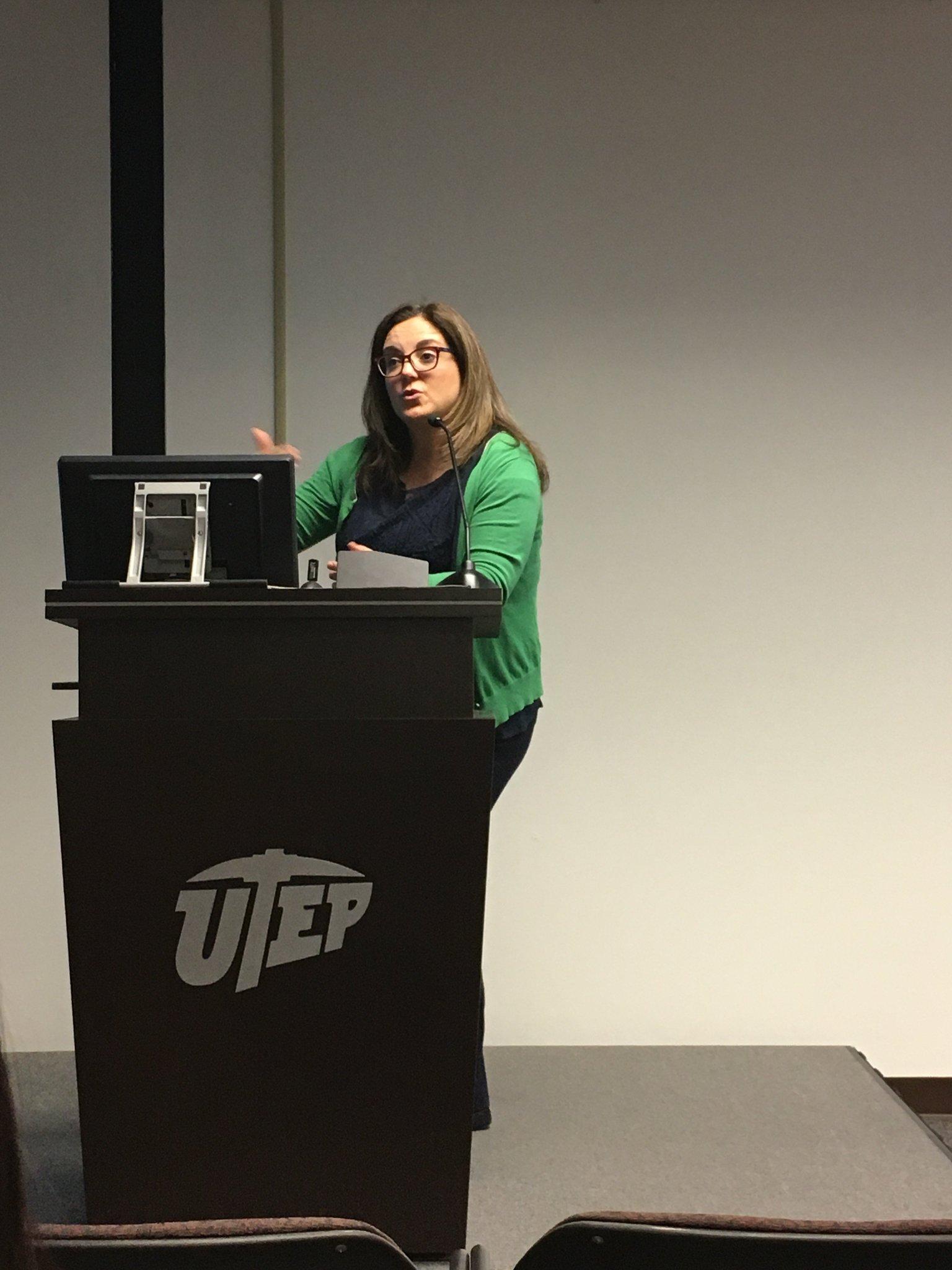 Dr @luciadura introducing the #UTEPRWS Graduate Panel at the 2017 Spring Symposium. https://t.co/XpMrz3b6dP