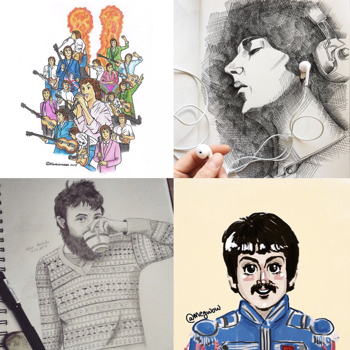 Paul McCartney On Twitter FanArtFriday By Instagram Users Kasweeee Puhnatsson Ainoheleenah And Megwow Share Your Fan Art With The Hashtag