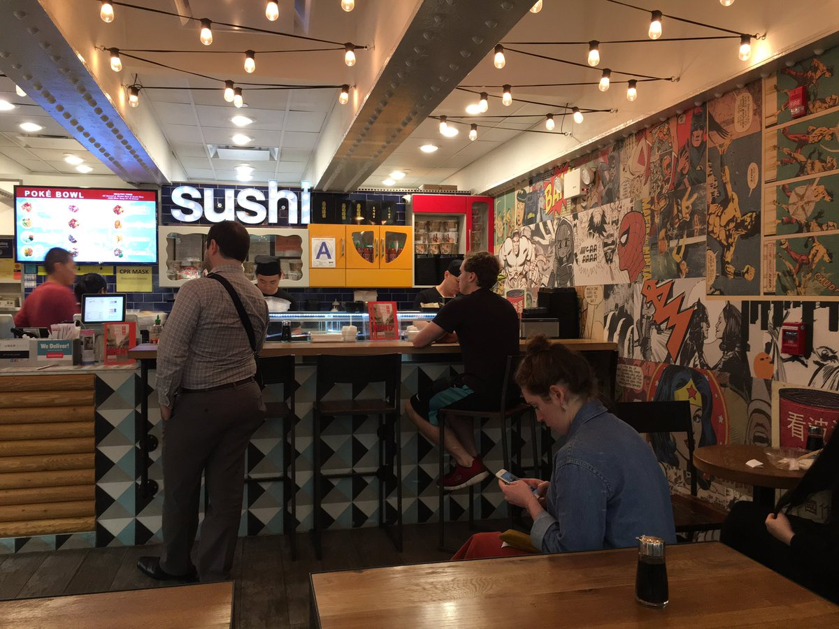 I found my new home. #sushi #comics #spiderman #lunch #yummy #mermaid #thalassa #vixensengarde #vixen<br>http://pic.twitter.com/frtQmO5iqR
