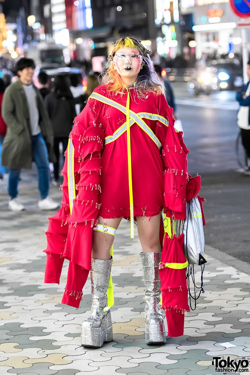 Tokyo Fashion On Twitter 17 Year Old Japanese Designer In Handmade Avant Garde Harajuku Street Style Glitter Platform Boots By Demonia 原宿 Https T Co 731ggmrcey Https T Co 7bwjsieigm