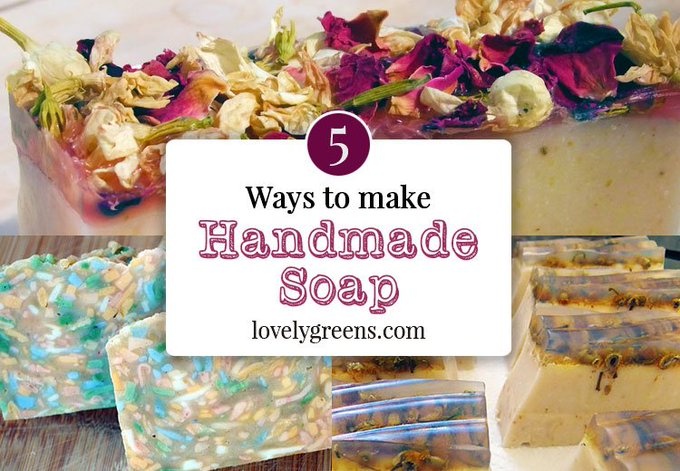 5 Ways to make Handmade Soap