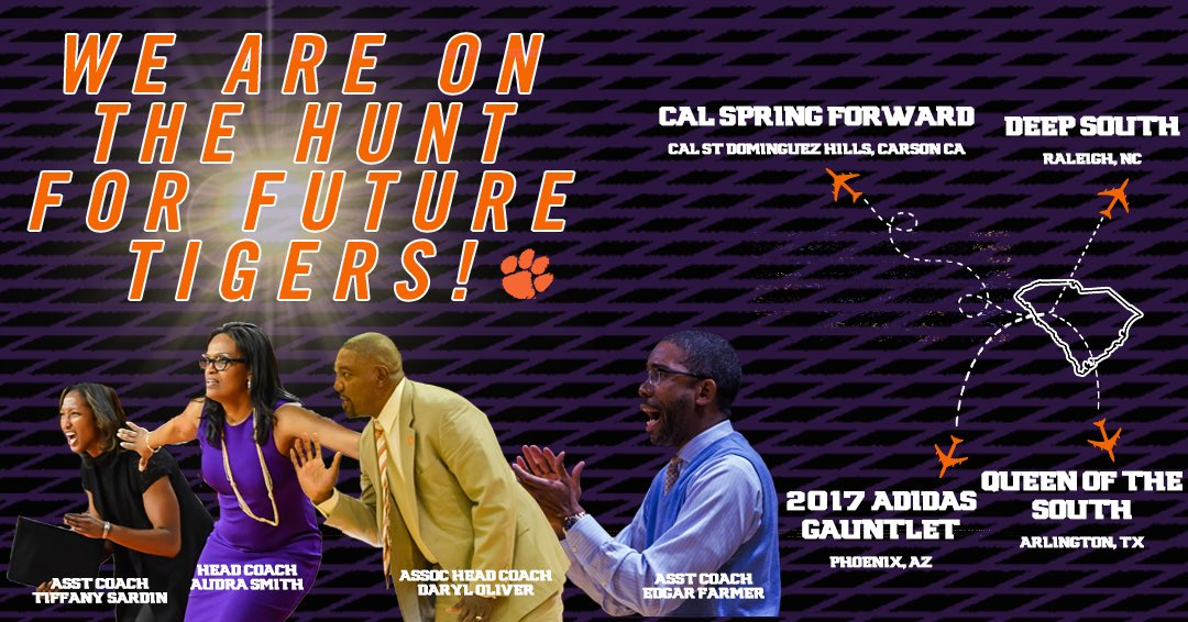 Our coaches are hitting the recruiting trail this weekend looking for future Tigers! #ClemsonFamily https://t.co/z4AlkqFDcq