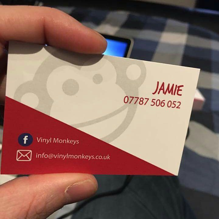 Push print on twitter new business cards for vinyl monkeys what push print on twitter new business cards for vinyl monkeys what do you think glasgow glasgowprinter businesscards reheart Gallery