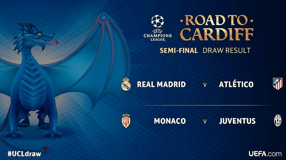 #AtleticoMadrid meet #RealMadrid for the fourth time in a row. Los Blancos victorious in two finals and a quarterfinal. #ChampionsLeague<br>http://pic.twitter.com/kzzEyRucZx