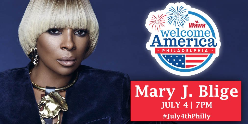 Get ready, Philly! The legendary @MaryJBlige will be starring in this year's FREE #July4thPhilly concert! https://t.co/mWIUAoUyUi