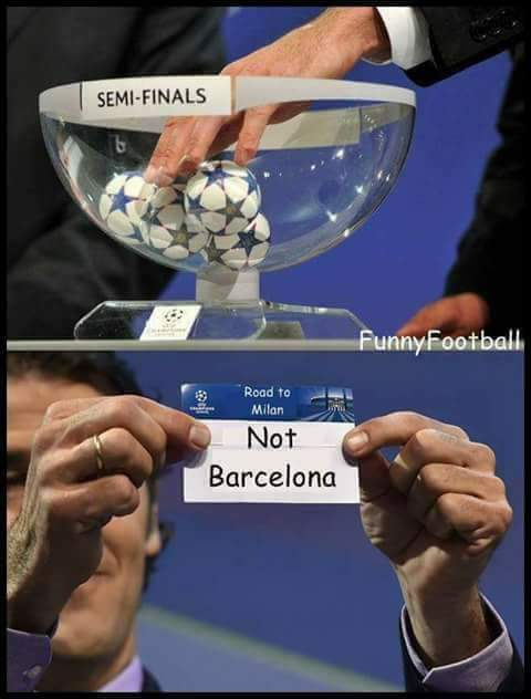 Result of the draws are out ....   Oh wait !!  #FCBJUV #UCLdraw #FCBarcelona<br>http://pic.twitter.com/zoUOyaGhPI