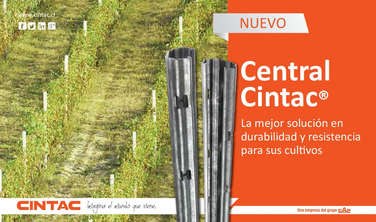 #CentralCintac puede ser utilizado como cerramiento perimetral, poste para techumbre, tutor y otros usos. http://hubs.ly/H076Pn10