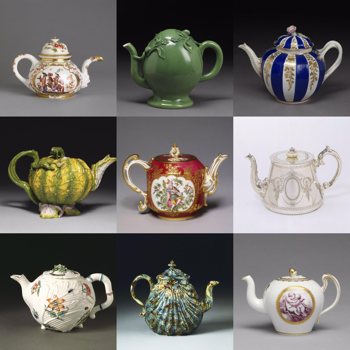 Time for tea? For #nationalteaday we have featured 9 teapots on display in our galleries. Can you spot them all next time you visit? <br>http://pic.twitter.com/51Vchk7AmR