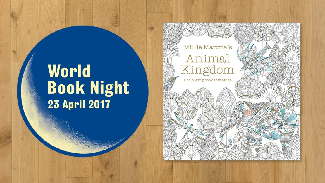 We're delighted to give out #MillieMarotta's bestselling colouring book Animal Kingdom to youth projects on #WorldBookNight this Sunday. https://t.co/8KEBn9p0rm
