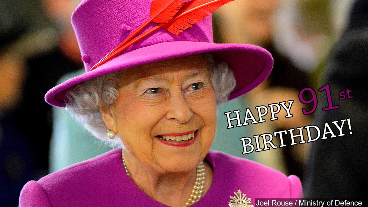 Happy 91st Birthday Queen Elizabeth II! #happybirthdayhermajesty
