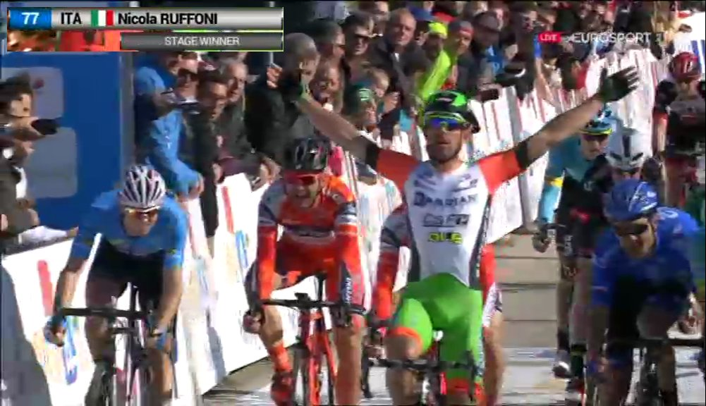 #Cycling #TOC2017 Stage 4 Winner @RuffoniNicola #ITA of @Bardiani_CSF<br>http://pic.twitter.com/GdYGsJaCwh