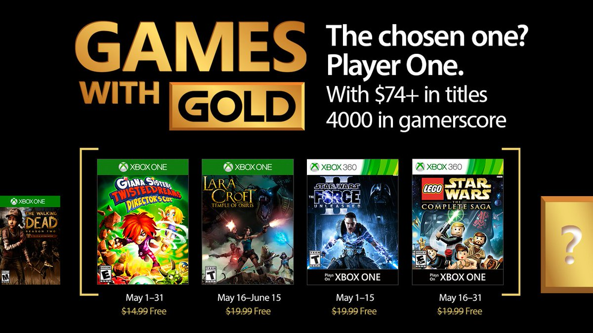 Xbox Live Games with Gold May 2017