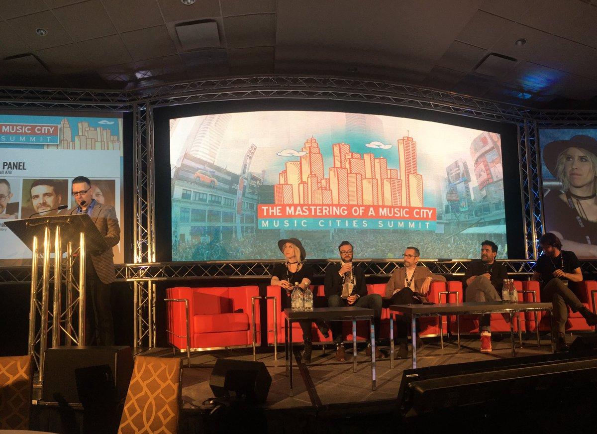 Music Ecosystem Panel underway at #MusicCities @CMW_Week summit. https...