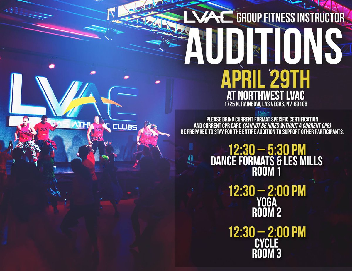 Lvac On Twitter Dont Forget About Our Lvac Group Fitness