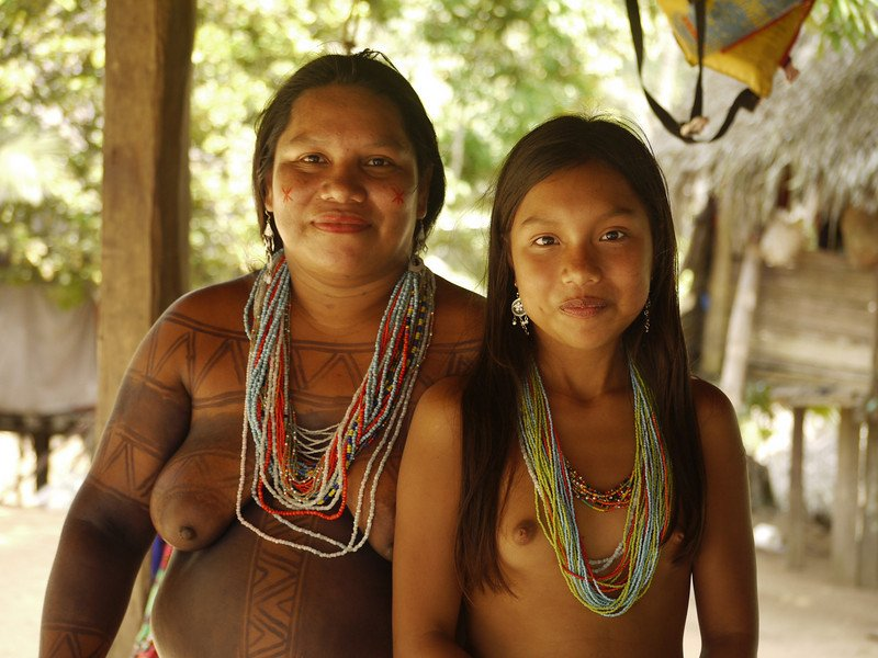 Tribal nudity south america
