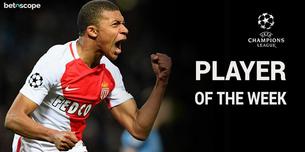 .@AS_Monaco_EN wonderkid @KMbappe voted #ChampionsLeague Player of the Week following his opener against @BVB on Wednesday #ASMBVB <br>http://pic.twitter.com/RQFiT4SXCw