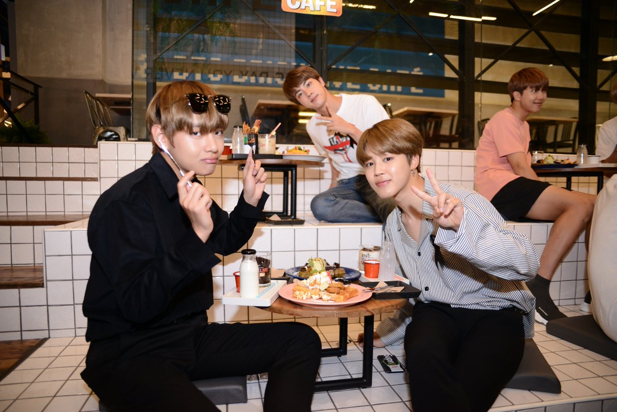 "btsdiary on twitter: ""[picture] bts at bts x brick live cafe in"