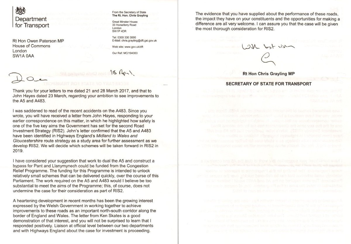 "owen paterson mp on twitter: ""encouraging letter from chris"