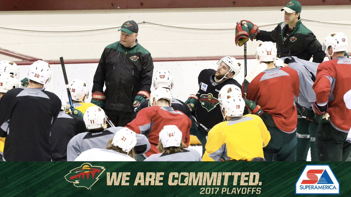 📷 Yesterday #mnwild hit the ice for practice ahead of today's Game 5. @mysuperamerica photo blog → ow.ly/JqQ130b4gnP