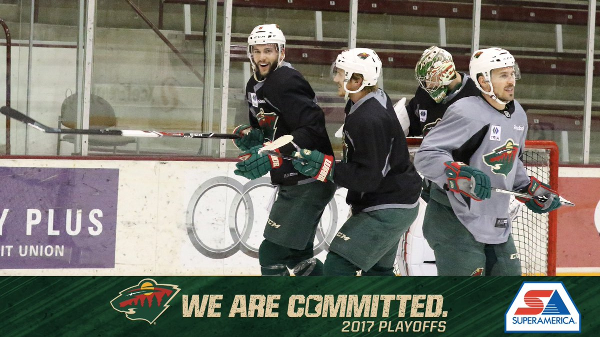 📷 #mnwild gearing up for Game 5 with practice in Minneapolis. @mysuperamerica photo blog → ow.ly/JqQ130b4gnP