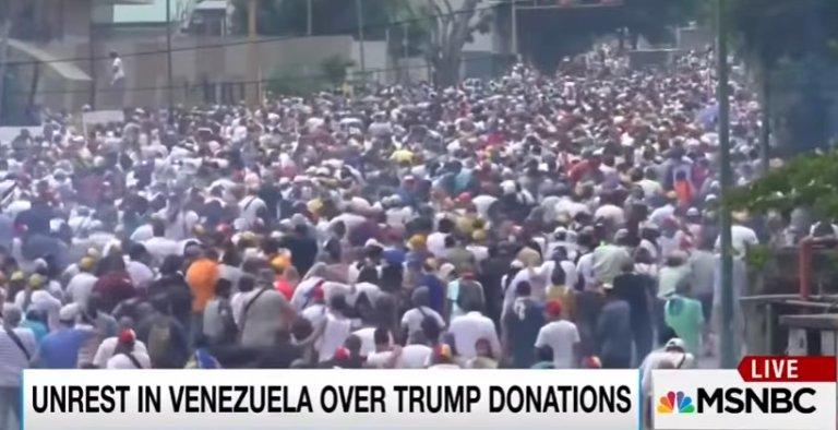Fake News: MSNBC-Maddow claim unrest Venezuela due to Trump