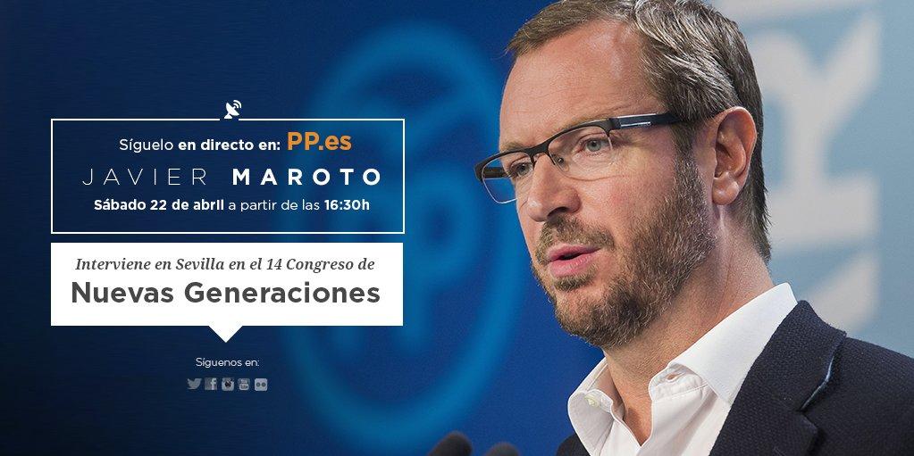 Javier Maroto interviene en el 14 Congreso de Nuevas Generaciones