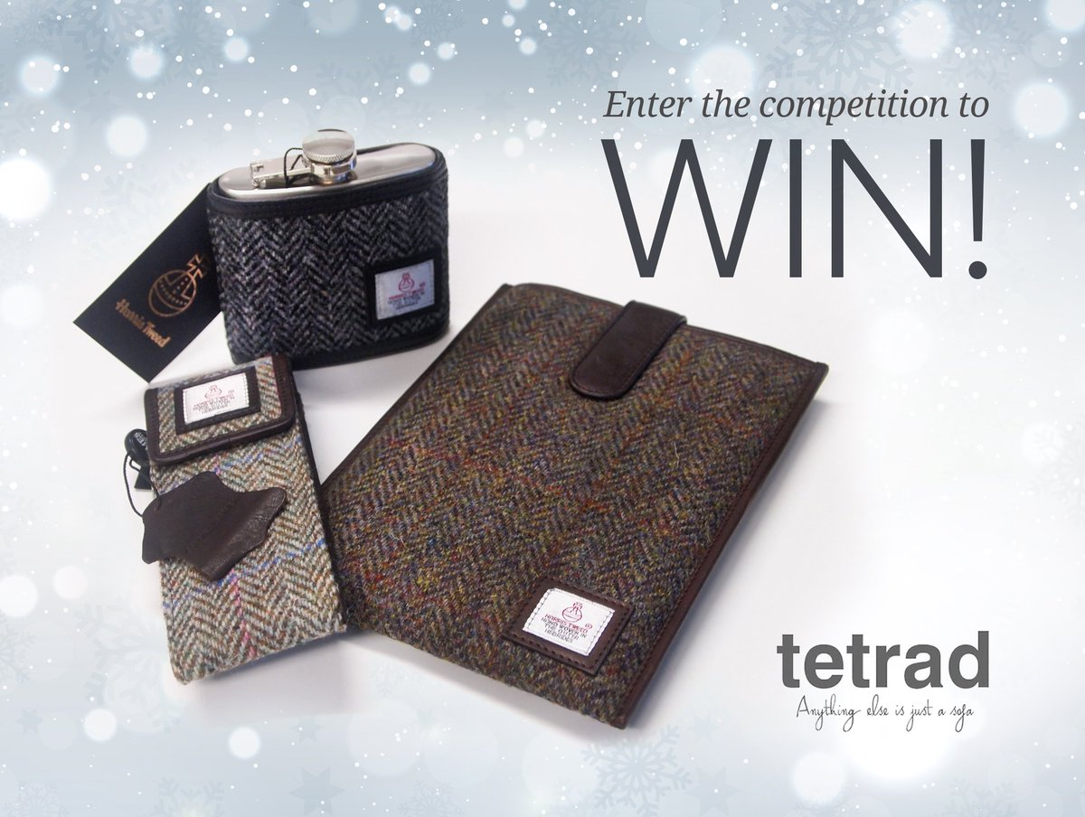 #Competition time! #WIN our #HarrisTweed Gift Set with Hip Flask, Ipad Mini/Kindle case and glasses case! To enter, just follow &amp; retweet!<br>http://pic.twitter.com/iMrZyyjJjQ