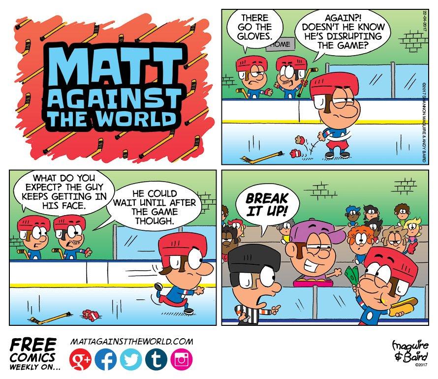 Matt Against World On Twitter New Matt Against The World Comic Hockey Fight Https T Co S0ufjmtnrd Lol Jokes Funny Cartoons Hockey Mattcomics Https T Co Vafd3i4bfp