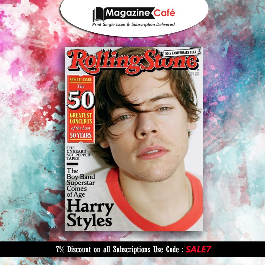 #Harry #Styles rocking the cover of #Rolling #Stone magazine, Grab Your Copy today  https://www. magazinecafestore.com/rolling-stone- magazine.html &nbsp; …    #harrystyles #rolling stone<br>http://pic.twitter.com/lReGkTn05c