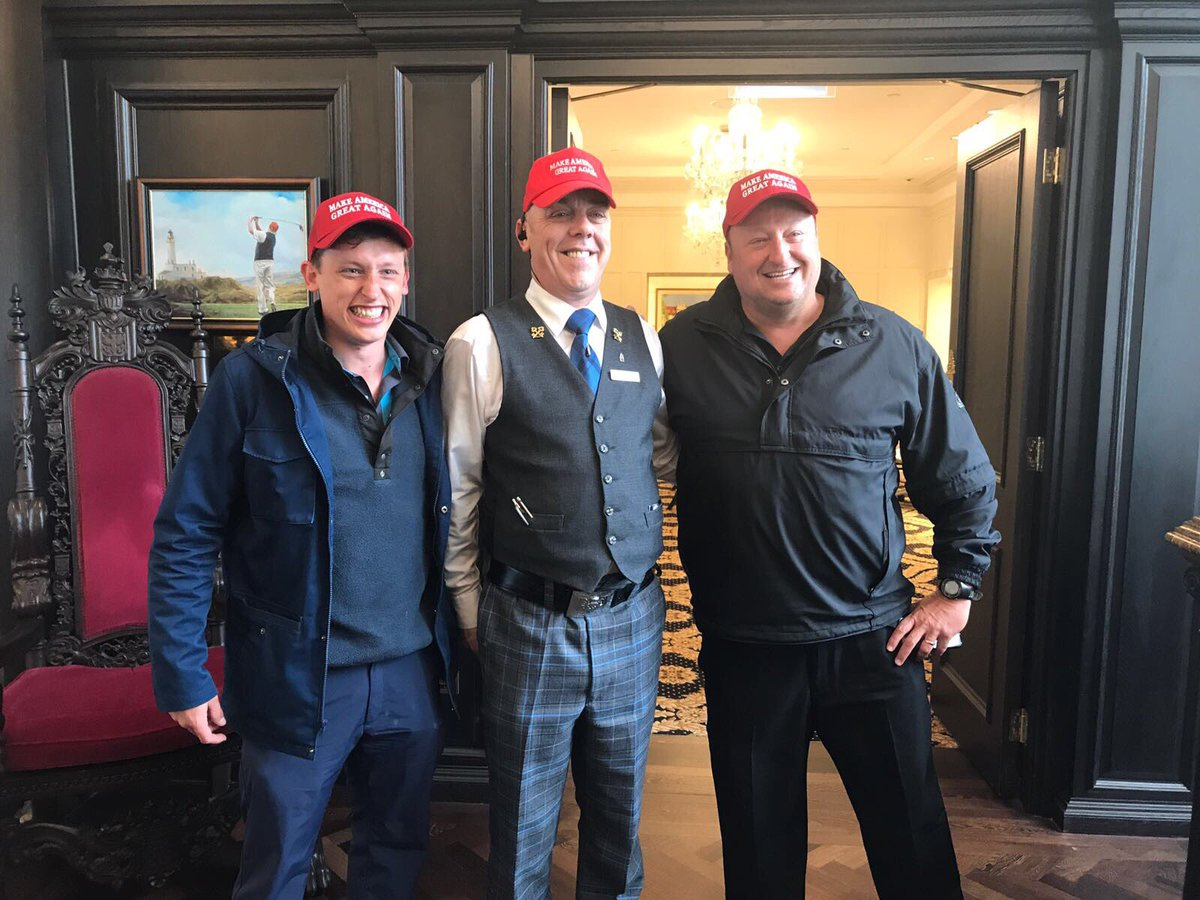 @EricTrump @JeffBuffenbarge Just visited #Trump #Turnberry awesome stay, golf and staff!! Keep up the good work
