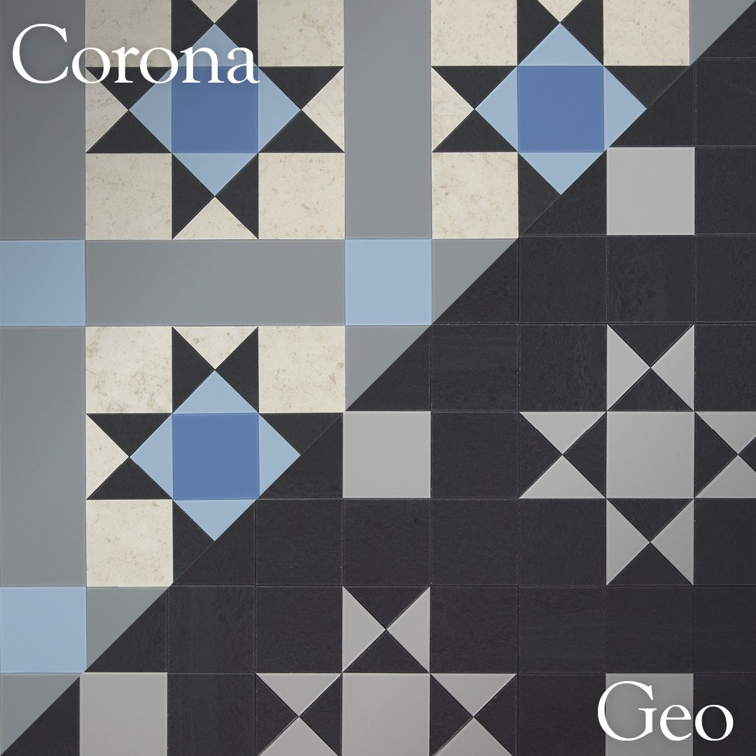 Amtico Décor is available in two bold pattern combinations - Geo and Corona. Which one do you prefer?