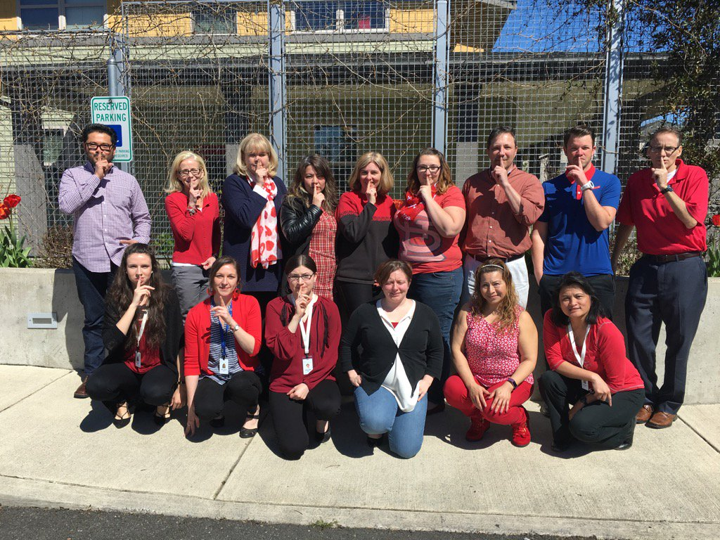 We're wearing red today for GLSEN's #DayofSilence to #ProtectTransYout...